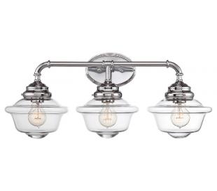 Fairfield 3 Badeværelseslampe B66 cm - Poleret krom/Klar