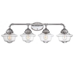 Fairfield 4 Badeværelseslampe B88 cm - Poleret krom/Klar