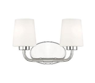 Capra 2 Badeværelseslampe B38 cm - Poleret nikkel/Frostet hvid