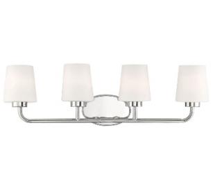 Capra 4 Badeværelseslampe B79 cm - Poleret nikkel/Frostet hvid