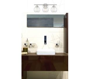 Carson 1 Badeværelseslampe H22 cm - Satineret nikkel/Klar