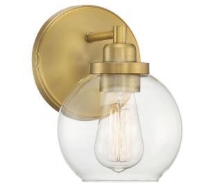 Carson 1 Badeværelseslampe H22 cm - Varm messing/Klar