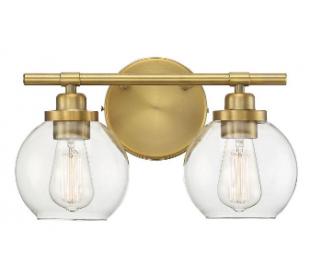 Carson 2 Badeværelseslampe B36 cm - Varm messing/Klar