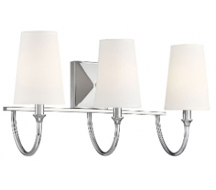 Cameron 3 Badeværelseslampe B61 cm - Poleret nikkel/Hvid