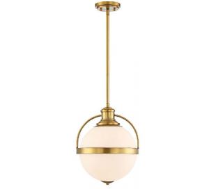 Westbourne 1 Loftlampe Ø31 cm - Varm messing/Opalhvid