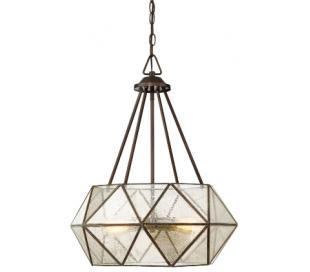 Tartan 4 Loftlampe Ø51 cm - Antik bronze/Brændt glas