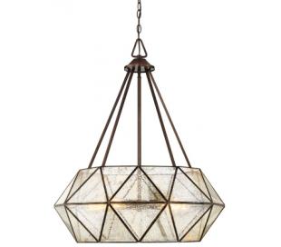 Tartan 5 Loftlampe Ø71 cm - Antik bronze/Brændt glas