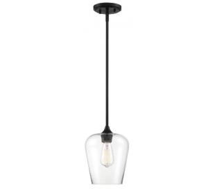 Octave 1 Loftlampe Ø22 cm - Mat sort/Klar