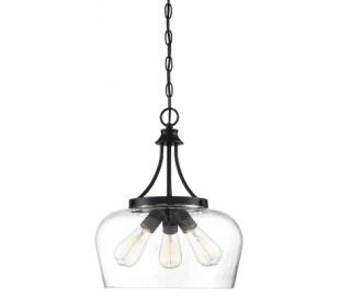 Octave 3 Loftlampe Ø38 cm - Mat sort/Klar