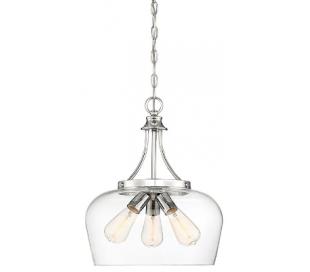 Octave 3 Loftlampe Ø38 cm - Krom/Klar