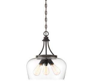 Octave 3 Loftlampe Ø38 cm - Antik bronze/Klar