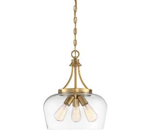 Octave 3 Loftlampe Ø38 cm - Varm messing/Klar