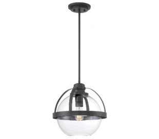 Pendleton 1 Loftlampe Ø36 cm - Mat sort/Klar