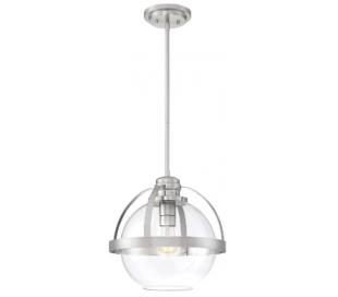 Pendleton 1 Loftlampe Ø36 cm - Satineret nikkel/Klar