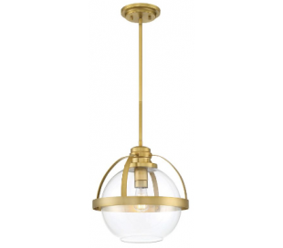Pendleton 1 Loftlampe Ø36 cm - Varm messing/Klar