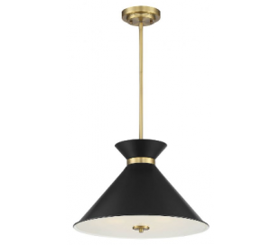 Lamar 3 Loftlampe Ø46 cm - Sort/Messing/Frostet