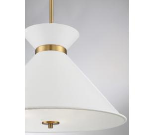 Lamar 3 Loftlampe Ø46 cm - Hvid/Messing/Frostet