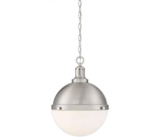 Lilly 2 Loftlampe Ø33 cm - Satineret nikkel/Opalhvid