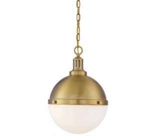 Lilly 2 Loftlampe Ø33 cm - Varm messing/Opalhvid