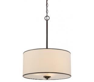 Grove 3 Loftlampe Ø46 cm - Antik bronze/Creme