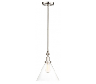 Drake 1 Loftlampe Ø25 cm - Poleret nikkel/Klar