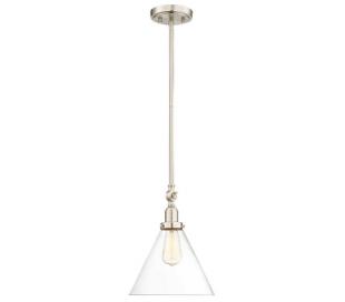 Drake 1 Loftlampe Ø25 cm - Satineret nikkel/Klar