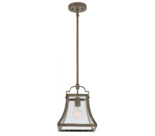 Belle Loftlampe 24 x 24 cm - Rust/Klar med dråbe effekt