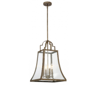 Belle 4 Loftlampe 36 x 36 cm - Rust/Klar med dråbe effekt
