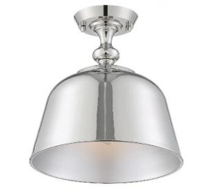 Berg 1 Semi-Flush Plafond Ø30 cm - Poleret nikkel