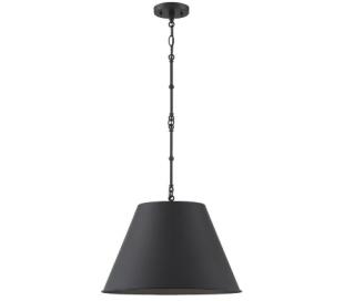 Alden 1 Loftlampe Ø46 cm - Mat sort