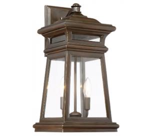 Taylor 2 Væglampe H50 cm - Antik guldbronze/Klar