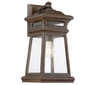 Taylor 1 Væglampe H41 cm - Antik guldbronze/Klar