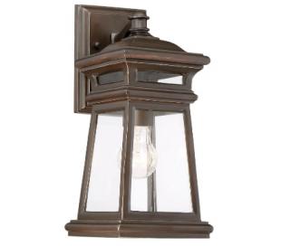 Taylor 1 Væglampe H36 cm - Antik guldbronze/Klar
