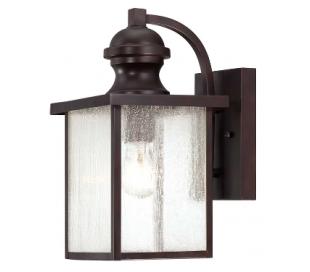 Newberry 1 Væglampe H34 cm - Antik bronze/Klar med dråbe effekt