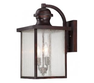 Newberry 2 Væglampe H43 cm - Antik bronze/Klar med dråbe effekt