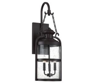 Brekenridge 3 Væglampe H76 cm - Antik bronze/Klar med dråbe effekt