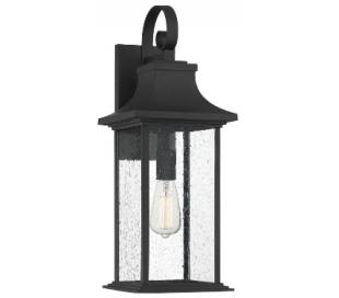 Hancock 1 Væglampe H59 cm - Mat sort/Klar med dråbe effekt