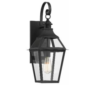 Jackson 1 Væglampe H57 cm - Mat sort/Klar