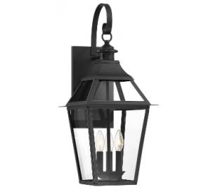 Jackson 3 Væglampe H65 cm - Mat sort/Klar