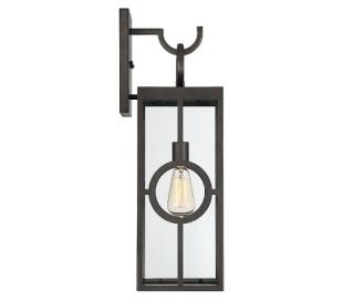 Lauren 1 Væglampe H62 cm - Antik bronze/Klar