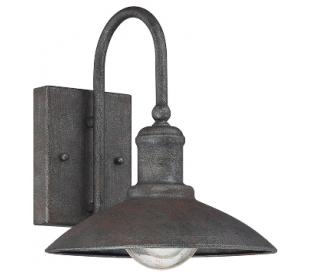 Mica 1 Væglampe H25 cm - Antik rustgrå/Klar med dråbe effekt