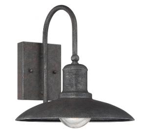 Mica 1 Væglampe H28 cm - Antik rustgrå/Klar med dråbe effekt