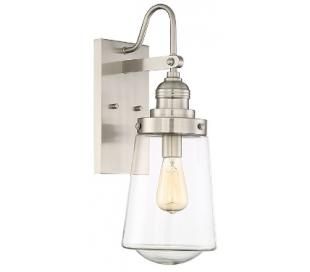 Macauley 1 Væglampe H34 cm - Satineret nikkel/Klar