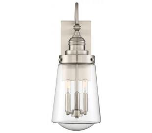 Macauley 3 Væglampe H60 cm - Satineret nikkel/Klar