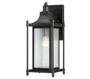 Dunnmore 1 Væglampe H41 cm - Sort/Klar med dråbe effekt