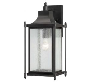 Dunnmore 1 Væglampe H46 cm - Sort/Klar med dråbe effekt