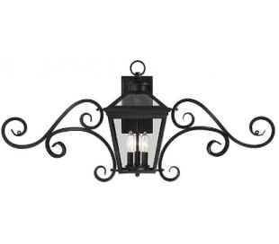 Ellijay 3 Væglampe B97 cm - Sort/Klar