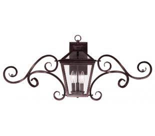 Ellijay 3 Væglampe B97 cm - Antik bronze/Klar