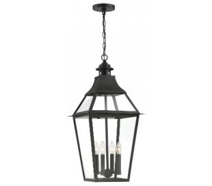 Jackson 4 Loftlampe 36 x 36 cm - Antik sort/Klar