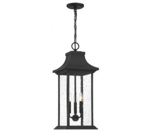 Hancock 3 Loftlampe 27 x 27 cm - Mat sort/Klar med dråbe effekt